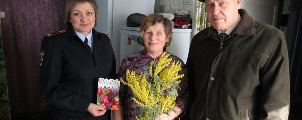 Калачеевские полицейские и общественники провели мероприятия, посвященные Международному женскому дню