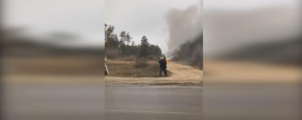 В Калачеевском районе сгорело авто владельца камер фиксации нарушений ПДД: появилось видео