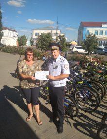 Калачеевские полицейские проводят профилактическую работу с водителями вело-, мототранспорта
