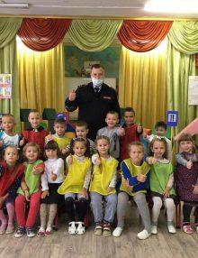 Калачеевские полицейские приняли участие в детском квесте по правилам дорожного движения
