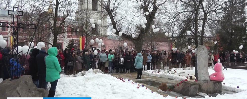 Калачеевцы почтили память погибших в «Зимней вишне» минутой молчания