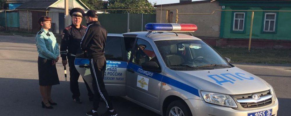 Калачеевские полицейские подвели итоги совместного рейда с Федеральной службой судебных приставов